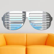 Shutter Shades wall mirror