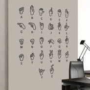 Sign Language wall decals