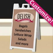 White Deluxe Sandwich Board