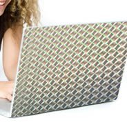 Silver Mozaic computer laptop skins