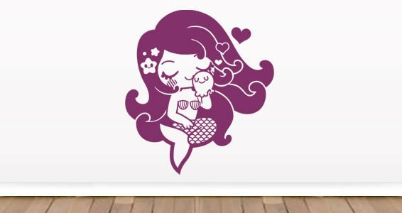Little Mermaid kids room wall decals