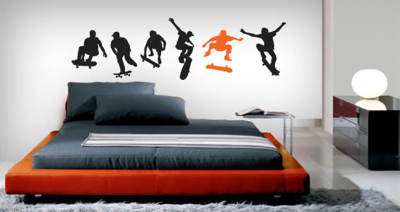 Skateboarders pack decal