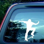 Skater car stickers