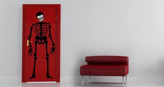 Skeleton glow in the dark wall decals