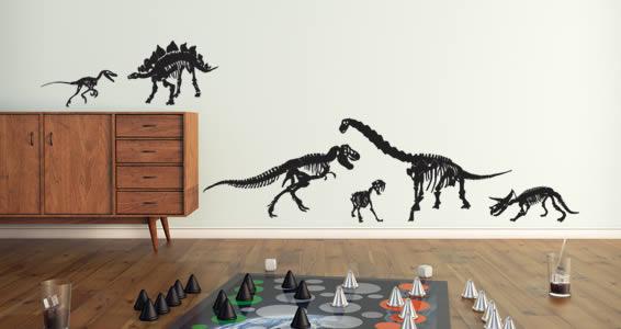 Skeleton Dinosaurs decals pack