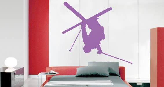 Skier wall stickers