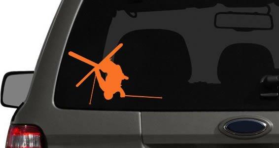 Skier car decals