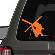 Skier car decals