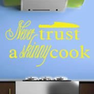 Skinny Cook wall decal quotes