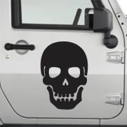 Skull car decals