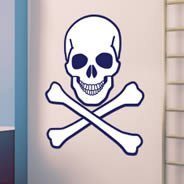 Skull and Bones wall decal