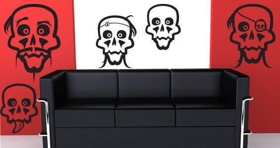 halloween skulls wall decals - Halloween Skulls Pictures