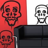 Halloween Skulls wall decals