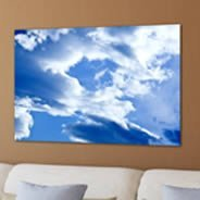 Sky photo printed on canvas