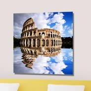 Sky Colosseum digital framed canvas