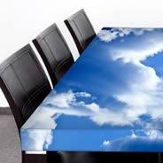 Blue Sky Dry Erase Furniture Skin Decals