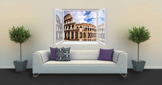 Roman Coloseum Fake Windows