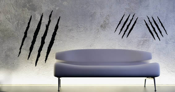 Scary Slashes removable wall stickers
