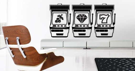 Slot Machines wall decals