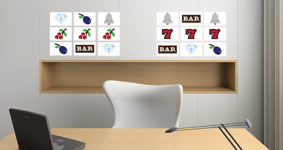 Slot Machine Wall Stickers