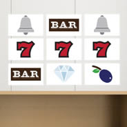 Slot Symbols Wall Stickers Pack