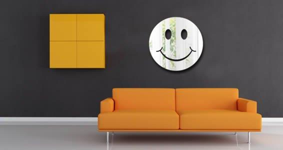 Smiley Emoticon wall mirror