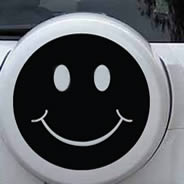 Smiley car stickers
