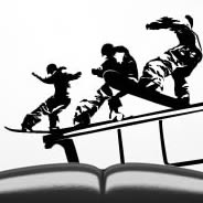 Snowboard wall decals