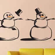 SnowMen stickers for walls