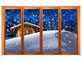 Snow Cabin Faux Windows Dezign With A Z
