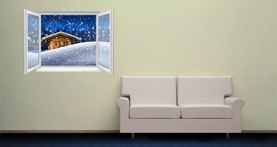 Snow Cabin Faux Windows