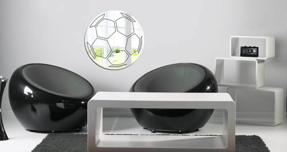 Soccer Ball resin wall mirror