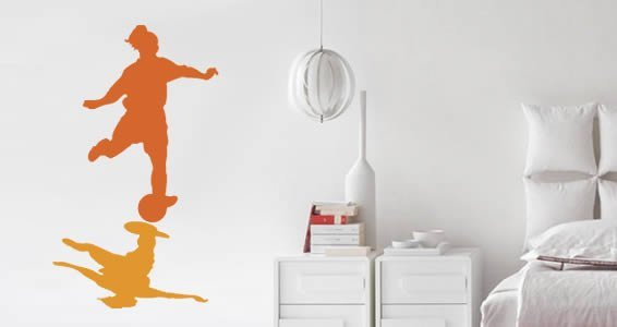 Soccer girl wall decals
