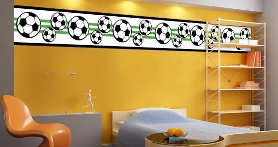Soccer wall border