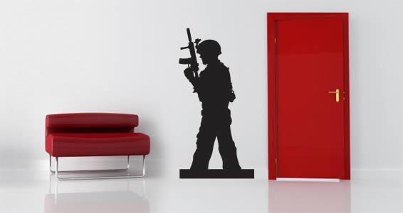 Soldier Hero wall decal