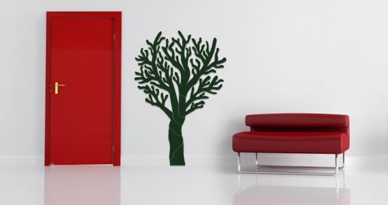 Solid Tree wall appliques