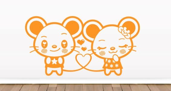 Mice nursery room wall stickers