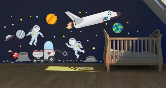 Space Adventures II wall sticker pack