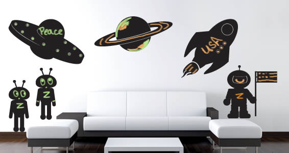 Space Adventures chalkboard decal