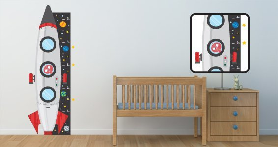 Space Adventures decals growth chart