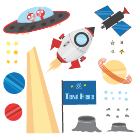 Space Adventures custom pack wall decals