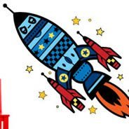 Space Rocket wall stickers by Charuca