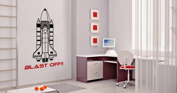 Space Shuttle personalized wall decals