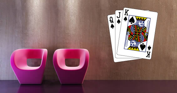 Spade Poker Cards wall decal