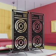 Boombox Radio Speakers Design Dividers