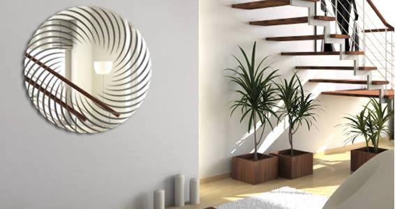Spiral acrylic mirrors