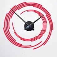 Time Spiral clock wall sticker  ons