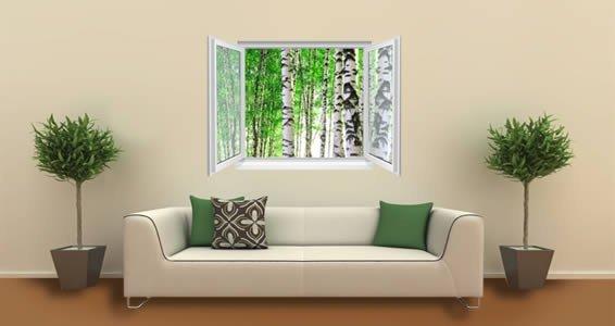 Birch Trees Faux Window Murals