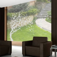 Cherry Blossom Tree frosted window decals