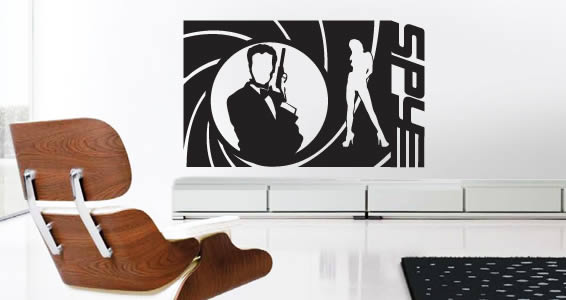 Spy Action wall decals